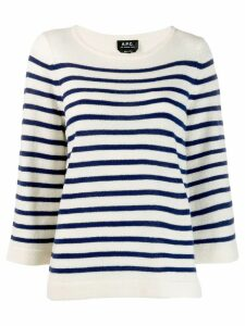 A.P.C. striped jumper - White