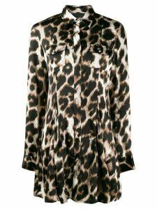 Philipp Plein leopard print blouse - Black