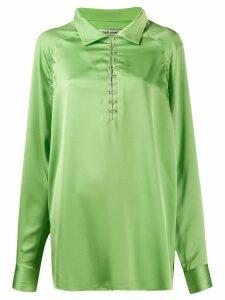 Jourden satin blouse - Green