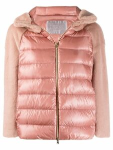 Herno hooded puffer jacket - PINK