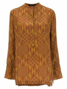Andrea Marques printed silk blouse - ORANGE