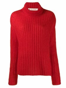 Marni ribbed jumper - Red