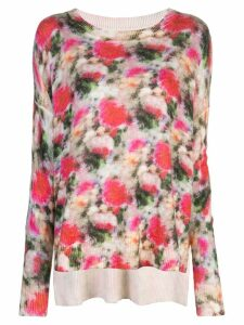 Adam Lippes printed knitted top - PINK