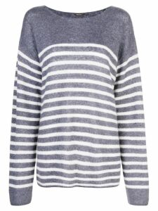 Adam Lippes oversized striped sweater - Blue