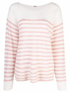 Adam Lippes oversized striped sweater - White