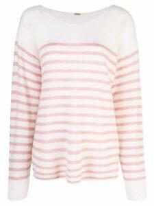 Adam Lippes oversized striped sweater - White