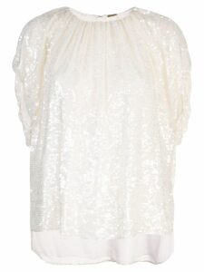 Adam Lippes sequin embellished top - White