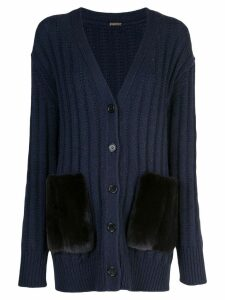 Adam Lippes ribbed knit cardigan - Blue