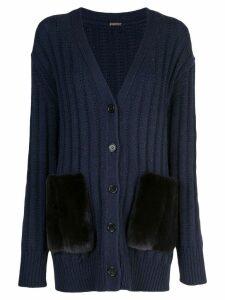 Adam Lippes ribbed knit cardigan - Blue