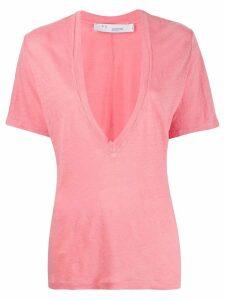 Iro deep V-neck T-shirt - Pink