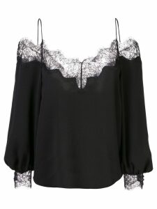 Zac Zac Posen Dora lace trimmed blouse - Black