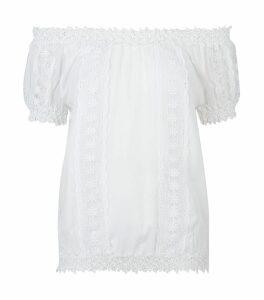 Maca Lace Off-The-Shoulder Top