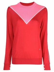 Adam Lippes colour block sweater - Red