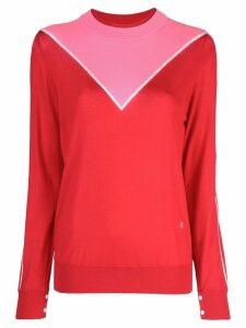 Adam Lippes colour block sweater - Red