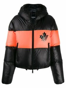 Dsquared2 maple leaf puffer jacket - Black