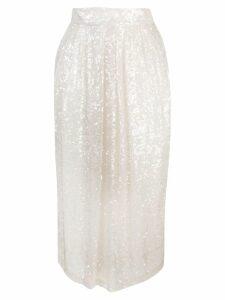 Adam Lippes sequin embellished skirt - White