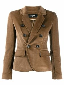 Dsquared2 double-breasted corduroy blazer - NEUTRALS