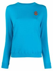 Chinti and Parker anchor embroidered sweater - Blue