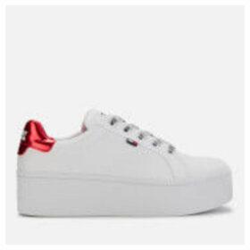Tommy Jeans Women's Icon Textile Flatform Trainers - White - EU 40/UK 6.5 - White