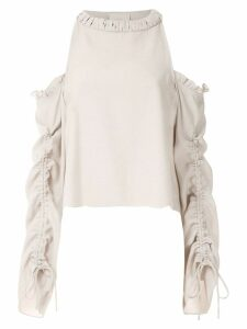 Framed Athena long sleeved blouse - NEUTRALS
