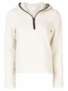 Rosetta Getty zipped knit sweater - Brown