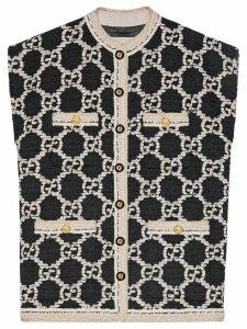 Gucci GG tweed sleeveless vest - Black