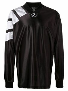 We11done printed jersey top - Black