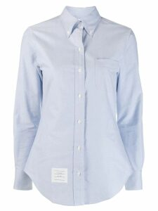 Thom Browne embellished anchor shirt - Blue