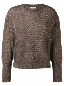 Brunello Cucinelli glitter-look knit jumper - Grey
