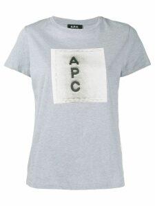 A.P.C. contrast logo T-shirt - Grey