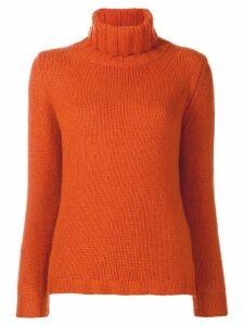 Incentive! Cashmere turtleneck jumper - Orange