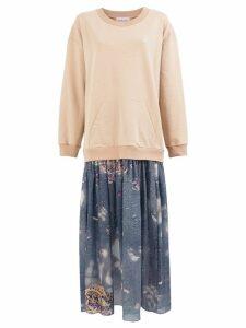 Natasha Zinko pavement print dress - Brown