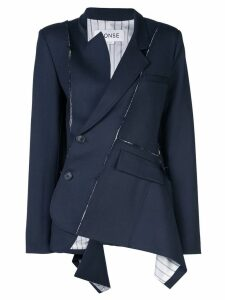Monse deconstructed wrap-around blazer - Blue