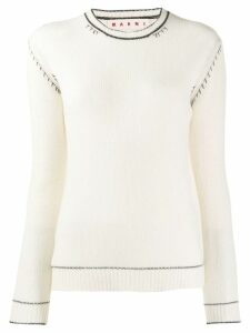 Marni slim-fit cashmere jumper - White