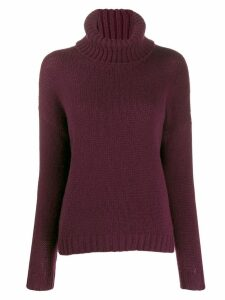 Incentive! Cashmere turtleneck jumper - Red