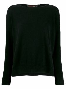 Incentive! Cashmere drop shoulder jumper - Black
