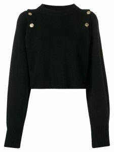 Sonia Rykiel embossed button jumper - Black
