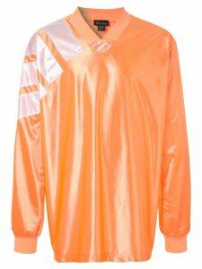 We11done oversized jersey top - Orange