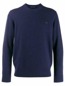 Acne Studios face patch sweater - Blue