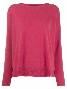 Incentive! Cashmere drop shoulder jumper - Pink