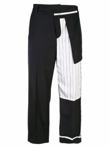 Monse capri trousers with patchwork - Black