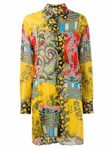 Etro printed longline shirt - Yellow