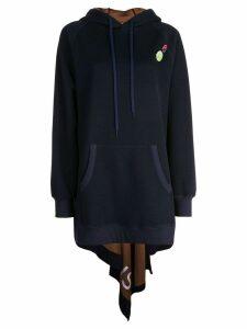 Monse loose knit hoodie - Blue