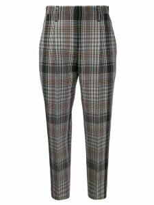 Brunello Cucinelli checked trousers - Black