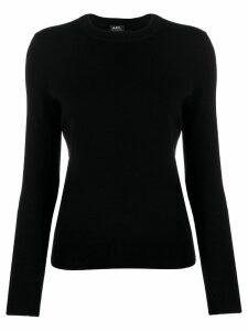 A.P.C. button shoulder jumper - Black