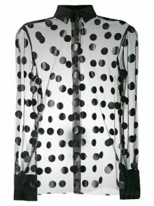 MSGM sheer polka dot blouse - Black