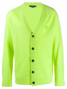 Acne Studios face patch cardigan - Green