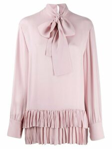 Valentino ruffle hem blouse - PINK