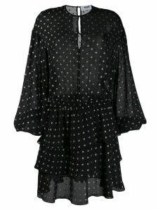 MSGM polka dot ruffle dress - Black