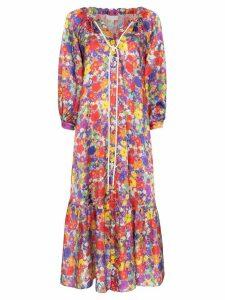 Borgo De Nor Floral Burst midi dress - PURPLE